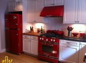 Amazing black and red kitchen decor 55