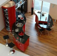 Amazing black and red kitchen decor 56