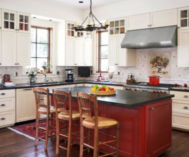 Amazing black and red kitchen decor 58