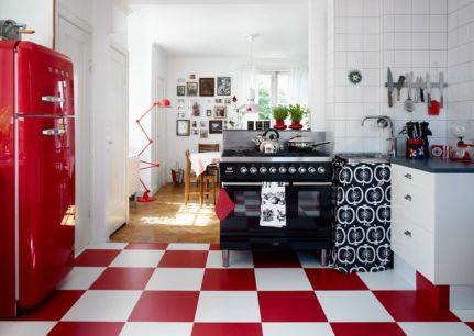 Amazing black and red kitchen decor 60