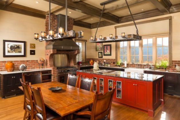 Red Country Kitchen – Best Design for Big Small Kitchen ...