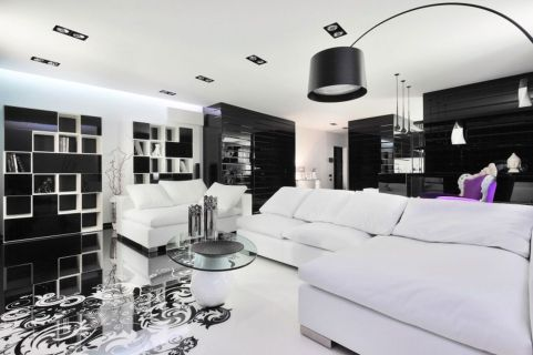 Amazing black and white furniture ideas 45