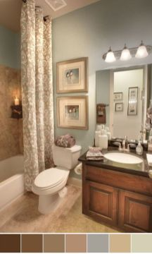 Amazing guest bathroom decorating ideas 16