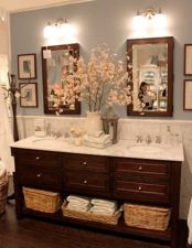 Amazing guest bathroom decorating ideas 21
