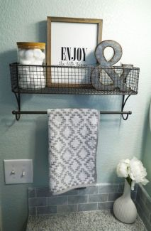Amazing guest bathroom decorating ideas 34