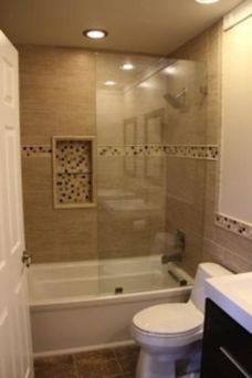 Amazing guest bathroom decorating ideas 43
