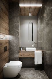 Amazing guest bathroom decorating ideas 45