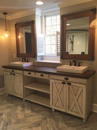 Amazing guest bathroom decorating ideas 46