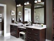 Bathroom vanity ideas with makeup station 24
