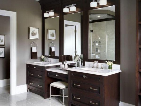 Master Bathroom Vanity with Makeup