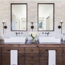 Bathroom vanity ideas with makeup station 25