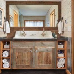 Bathroom vanity ideas with makeup station 26