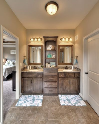 Bathroom vanity ideas with makeup station 39