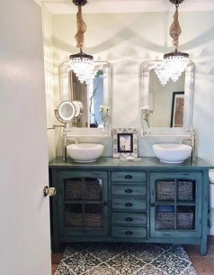 Bathroom vanity ideas with makeup station 48
