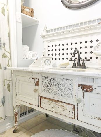 Bathroom vanity ideas with makeup station 52