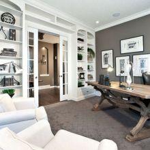 Beautiful bedroom design ideas using grey carpet 002