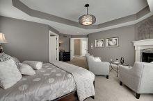 Beautiful bedroom design ideas using grey carpet 003