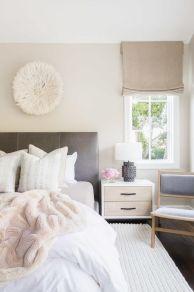 Beautiful bedroom design ideas using grey carpet 053
