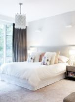 Beautiful bedroom design ideas using grey carpet 058