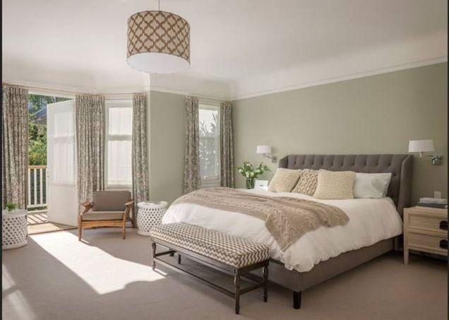 Beautiful bedroom design ideas using grey carpet 100