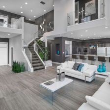 Beautiful grey living room decor ideas 35