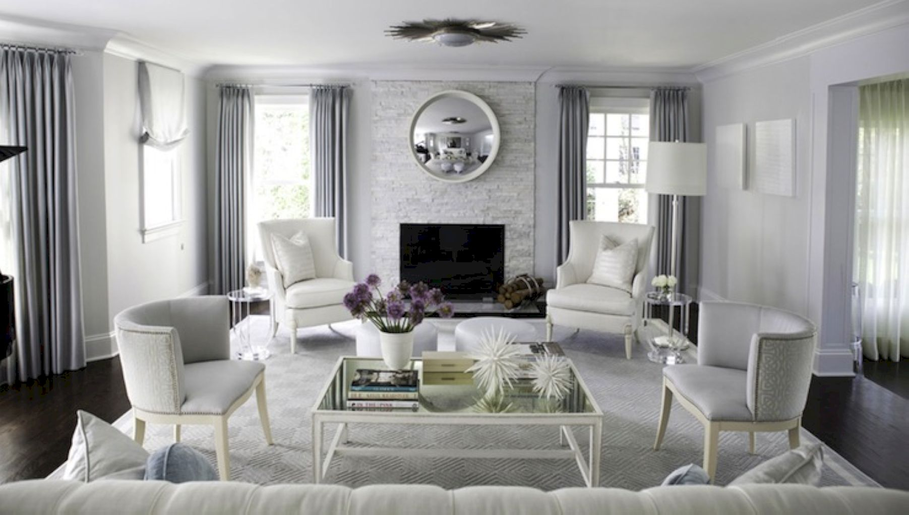 70 Stunning Gray and White Living Room Decor Ideas - ROUNDECOR