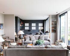 Beautiful grey living room decor ideas 60