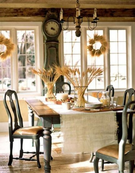 Beautiful shabby chic dining room decor ideas 03
