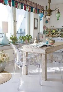 Beautiful shabby chic dining room decor ideas 07