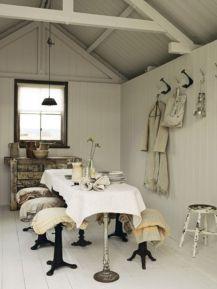 Beautiful shabby chic dining room decor ideas 12