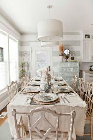 Beautiful shabby chic dining room decor ideas 14