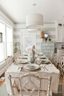 Beautiful shabby chic dining room decor ideas 14