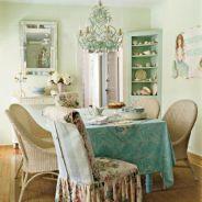 Beautiful shabby chic dining room decor ideas 15