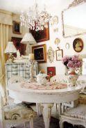 Beautiful shabby chic dining room decor ideas 18