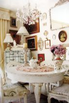 Beautiful shabby chic dining room decor ideas 18
