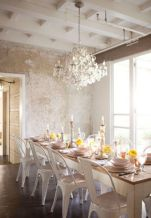Beautiful shabby chic dining room decor ideas 22