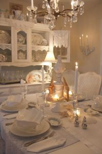 Beautiful shabby chic dining room decor ideas 25