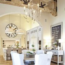 Beautiful shabby chic dining room decor ideas 39