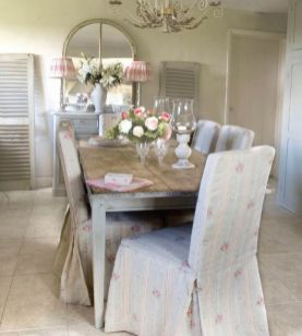 Beautiful shabby chic dining room decor ideas 42