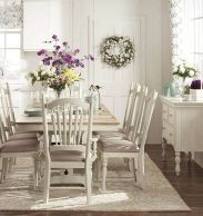 Beautiful shabby chic dining room decor ideas 44