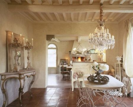 Beautiful shabby chic dining room decor ideas 48
