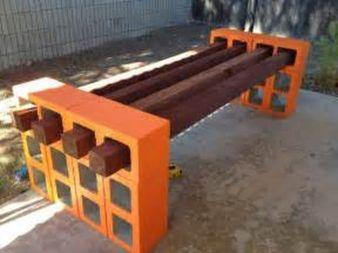 Cinder block furniture backyard 02