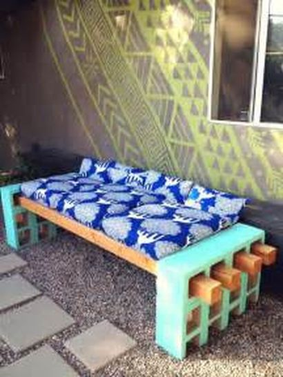 Cinder block furniture backyard 04