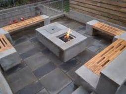 Cinder block furniture backyard 05