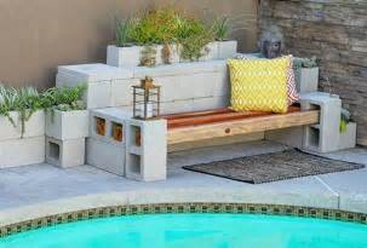 Cinder block furniture backyard 07
