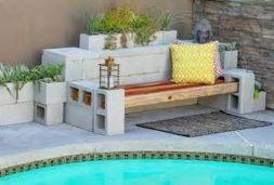 Cinder block furniture backyard 07