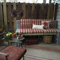 Cinder block furniture backyard 10
