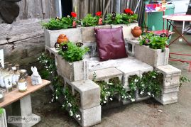Cinder block furniture backyard 12