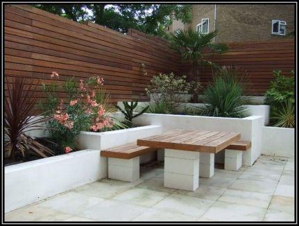 Cinder block furniture backyard 29