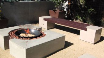 Cinder block furniture backyard 38